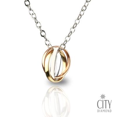 City Diamond 『三色圈』 K金項鍊