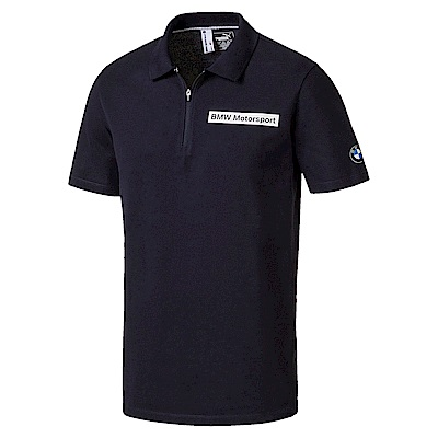 PUMA-男性BMW系列經典短袖POLO衫-車隊藍-歐規