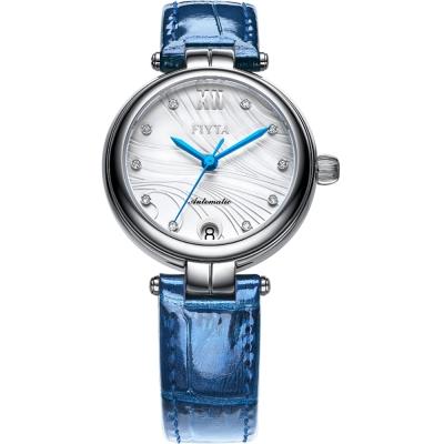 FIYTA飛亞達 心弦系列機械錶(LA869001.WWL)-灰白色/32mm