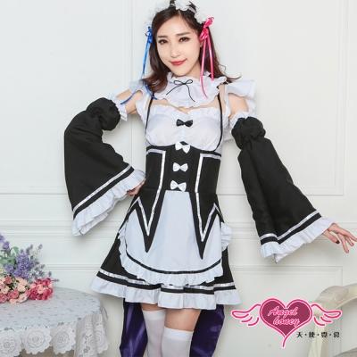 角色扮演-專屬服侍-甜美燕尾女僕制服表演服-黑F-AngelHoney天使霓裳
