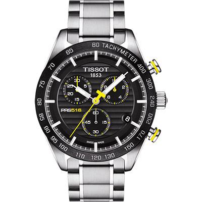 TISSOT PRS516系列三眼計時腕錶T1004171105100-黑42mm