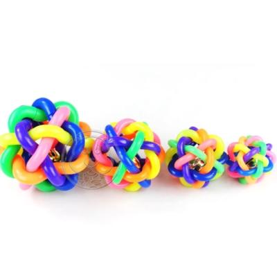 dyy》犬貓七彩球玩具*2入直徑大8cm
