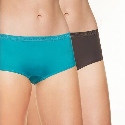 法國DIM-Pockets「旅行輕便-超細纖維」系列經典平口內褲2件組-藍黑