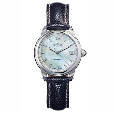DAVOSA Ladies Delight 系列 經典時尚腕錶-白x黑色錶帶/34mm