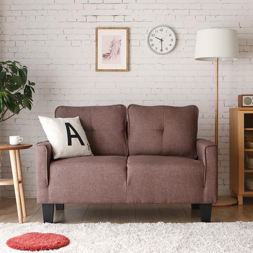 H&D 莉絲簡約舒適雙人沙發-3色可選