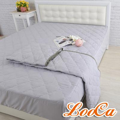 LooCa 天然防蹣防蚊竹炭保潔墊 床包式 單人3.5尺