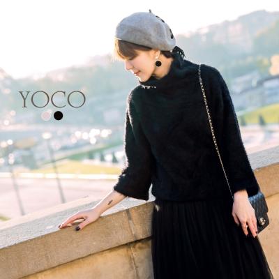 東京著衣-yoco安琪聯名巴黎冬日毛海高領寬袖毛衣-XS.S.M.L(共三色)