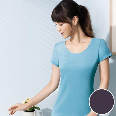 華歌爾-PH5-5酸鹼平衡M-LL短袖上衣-魅惑紫