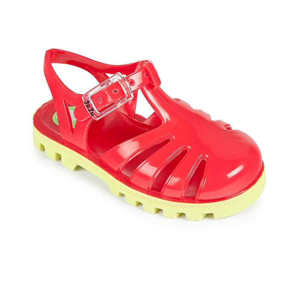 Project Jelly JuJu英國製果凍涼鞋(亮紅X萊姆)