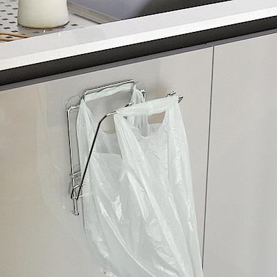 樂貼工坊 不鏽鋼垃圾袋架/掛架/微透貼面-15.5x16x18.5