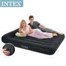 INTEX 舒適型內建電動幫浦充氣床墊-雙人寬137cm-有頭枕(66776)