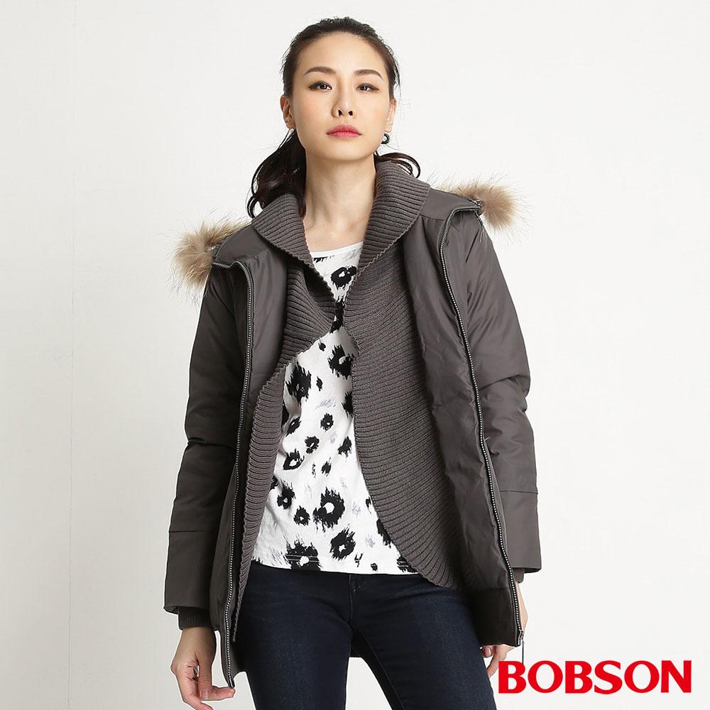 BOBSON女款長版羽絨外套