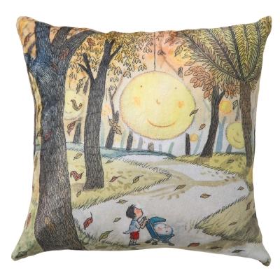 繪見幾米 月亮忘記了 月亮搖籃 法蘭絨數位抱枕 45x45cm