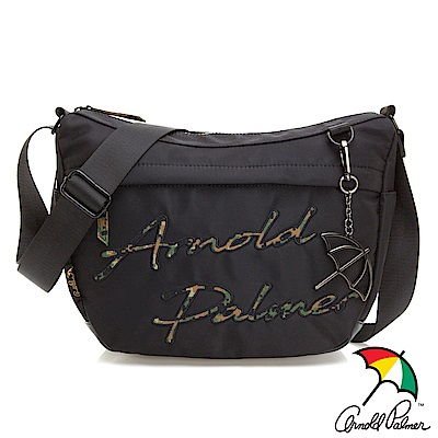 Arnold Palmer- 斜背包 型格迷彩系列-黑色