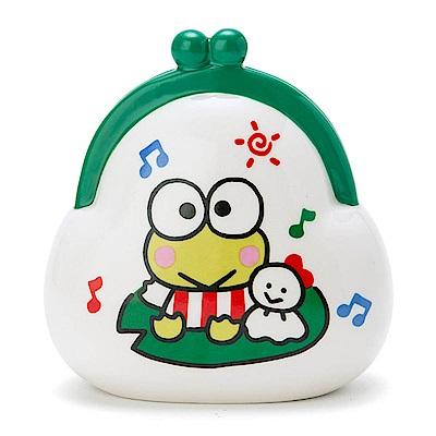 Sanrio 大眼蛙復古口金包造型陶磁存錢筒