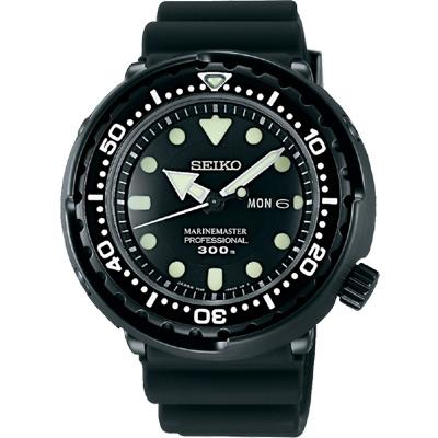 SEIKO PROSPEX 鮪魚罐頭專業運動潛水錶(SBBN035J)-黑/48mm