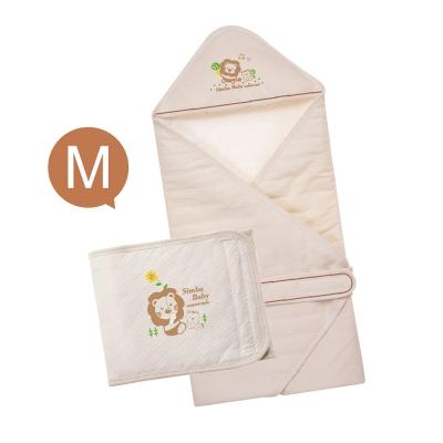 小獅王辛巴 大地系有機棉呵護二件組(M)(包巾+肚圍)
