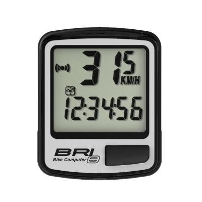 ECHOWELL BRI-8 多功能自行車有線碼錶 銀