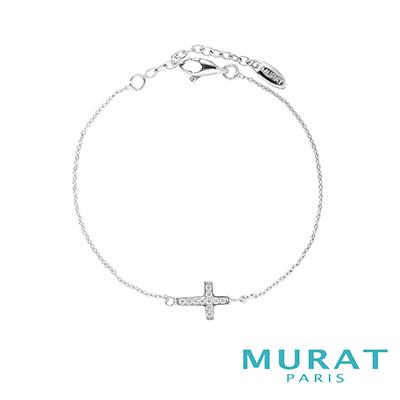 MURAT Paris米哈巴黎 經典十字滿鑽手鍊