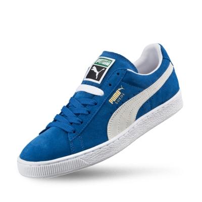 PUMA Suede Classic+男女復古籃球運動鞋-寶藍