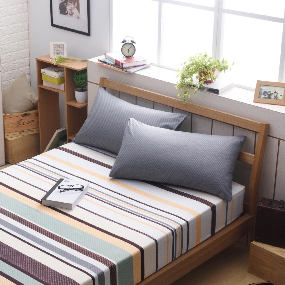 日本濱川佐櫻-特調品味 文青風柔絲絨加大三件式床包組