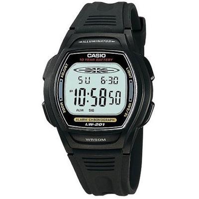CASIO 10年電量電子運動錶(LW-201-1A)-黑按鍵/32.5mm