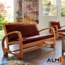 ALMI - DOCKER SURF- 2 PLACES CUIR 雙人扶手椅