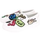 MARC JACOBS Mercer 多元素補丁裝飾厚底便鞋(白色)