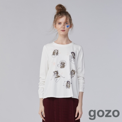 gozo 藝術家集合趣味圖樣TEE上衣(二色)