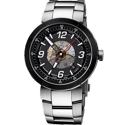 ORIS TT1 競速陶瓷時尚鏤空機械腕錶-42mm