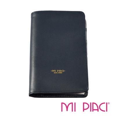 Mi Piaci 革物心語-百貨專櫃-護照夾-全牛皮款-1085319-深藍色