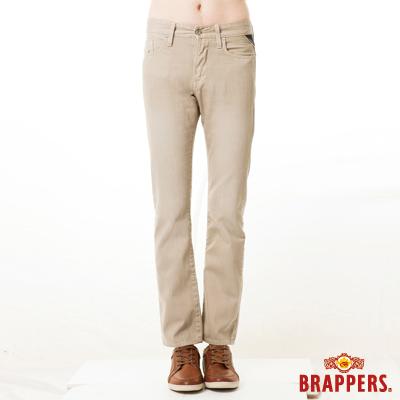 BRAPPERS-男款-男色褲系列-男用中腰窄版直統褲-卡其