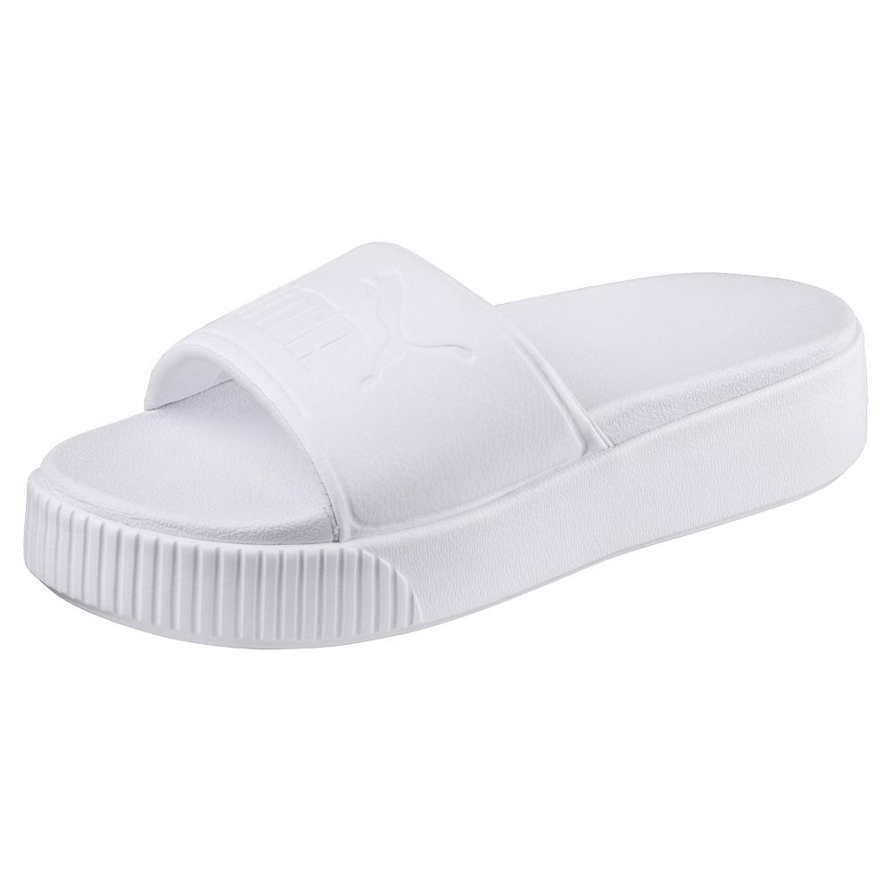 PUMA-PlatformSlideBoldWns女拖鞋-白色