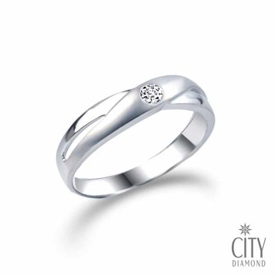 City Diamond引雅『情定永恆』6分鑽石戒指(男)