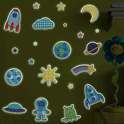 Pond's 夜光壁貼~太空世界(2入)Y0005
