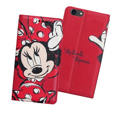 迪士尼正版 iPhone 8/iPhone 7 手繪風磁力皮套(手繪米妮)
