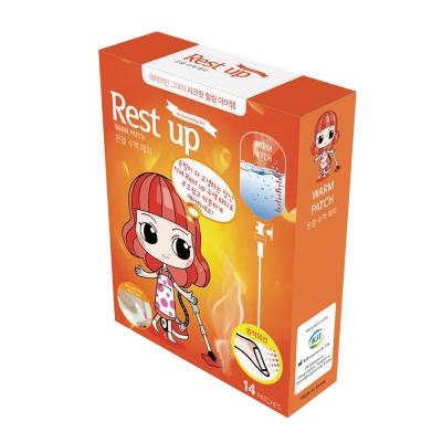 日濢Tsuie 韓國Rest Up足底舒適貼片 溫熱 一般款(14入/盒)