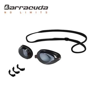 美國巴洛酷達Barracuda成人近視泳鏡-黑頭帶#2195