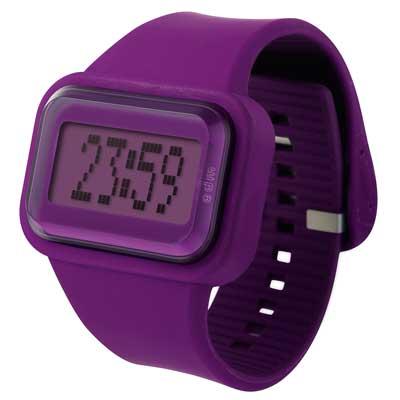 o.d.m.  Raibow 跳躍彩色人生電子錶-紫/43mmx45mm