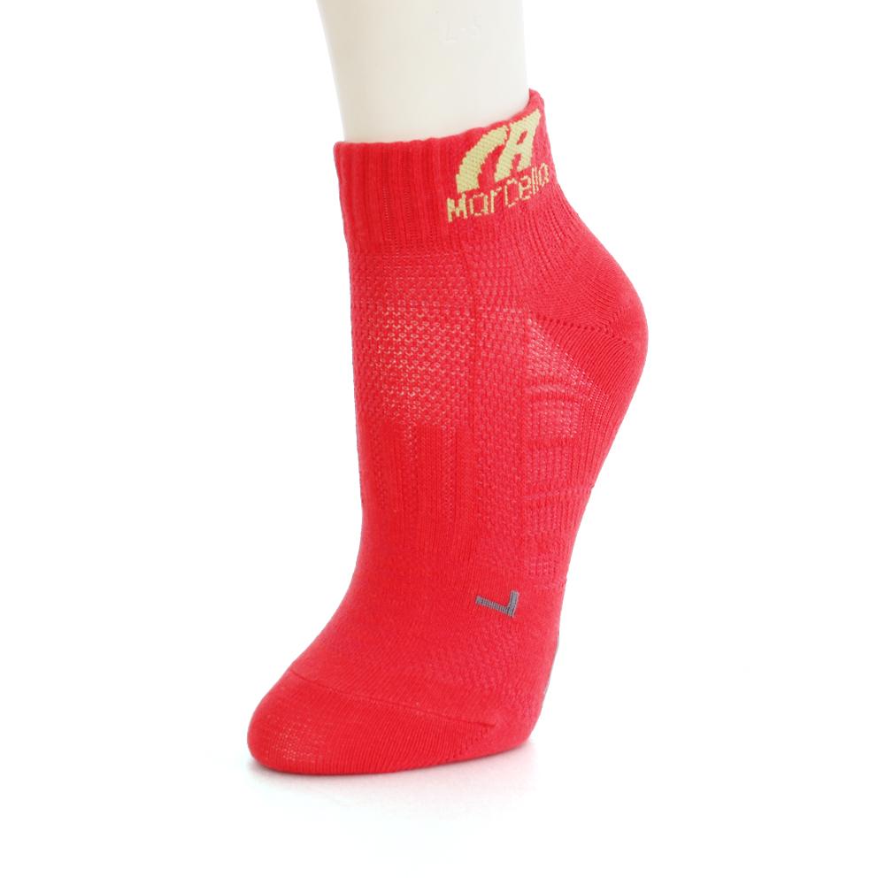 瑪榭 RUN足弓防護360度機能短襪3入-素面(22-24cm)