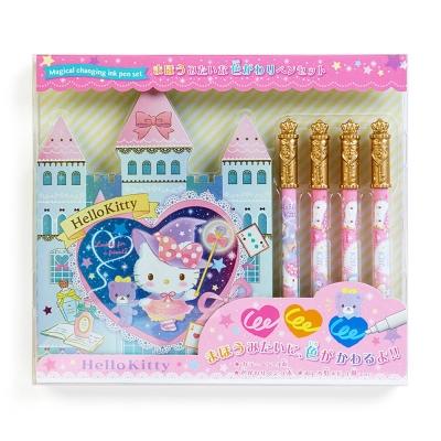 Sanrio HELLO KITTY魔法變色筆與城堡造型便條本組