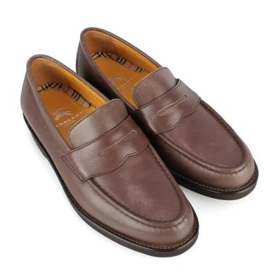 BURBERRY 英倫紳士全皮革樂福鞋-咖啡色