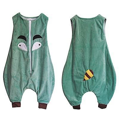 幼兒 造型無袖背心 法蘭絨分腿防踢睡袋