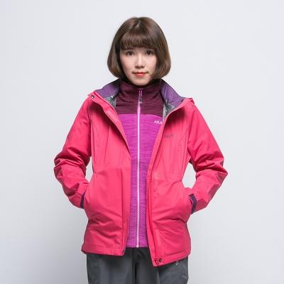 【ATUNAS 歐都納】女款綠森林超輕量防水防風透濕外套 A-G1402W 桃紅