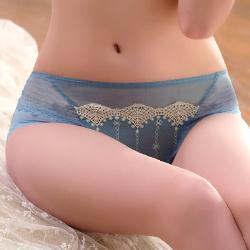 【羅絲美】繁花爭豔平口褲 (湖水藍)