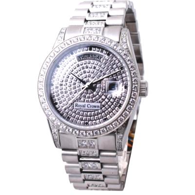 Royal Crown閃耀滿天星鑲晶鑽腕錶- 39 mm