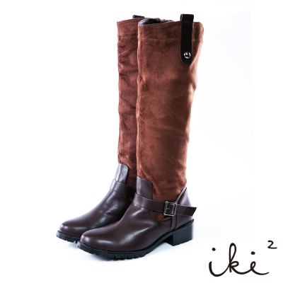 iki2成熟女伶個性時尚長靴-咖