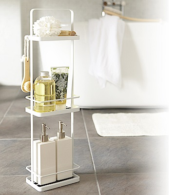 【YAMAZAK】tower 手提式三層架-白 ★置物架/收納架/衛浴用品