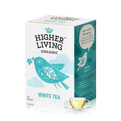 英國HIGHER LIVING 有機經典白茶(20入/盒)