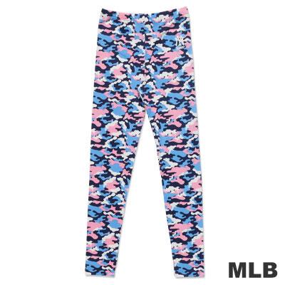 MLB-紐約洋基隊迷彩印花內搭褲-深粉紅(女)